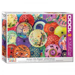 173 – 1000pce Puzzles 6000-5317 Asian Oil Paper Umbrellas