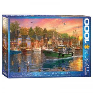173 – 1000pce Puzzles 6000-0969 Harbor Sunset