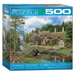 178 – 500pce Oversized Family Puzzles (4 Des) 8500-0457 Cobble Walk Cottage