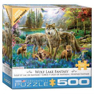 178 – 500pce Oversized Family Puzzles (4 Des) 8500-5360 Wolf Lake Fantasy