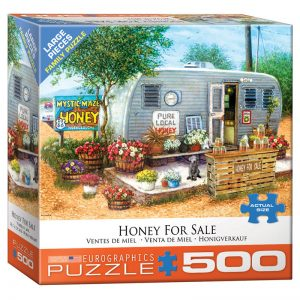 178 – 500pce Oversized Family Puzzles (4 Des) 8500-5364 Honey For Sale