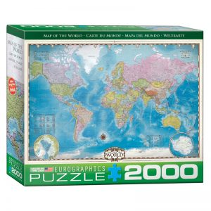 179 – 2000pce Puzzles (5 Des) 8220-0557 Map Of The World