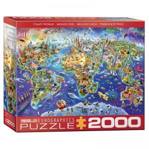 179 – 2000pce Puzzles (5 Des) 8220-5343 Crazy World