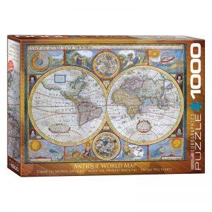 173 – 1000pce Puzzles 6000-2006 Antique World Map