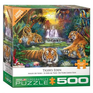 178 – 500pce Oversized Family Puzzles 8500-5457 Tiger's Eden