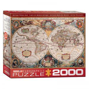 179 – 2000pce Puzzles (5 Des) 8220-1997 Antique World Map