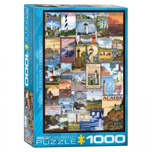 173 – 1000pce Puzzles 6000-0779 Lighthouse Vintage Posters