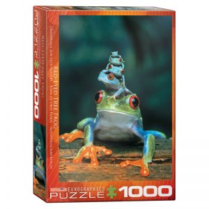 173 – 1000pce Puzzles 6000-3004 Red Eyed Tree Frog