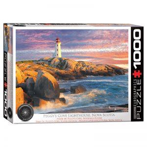 173 – 1000pce Puzzles 6000-5437 Peggy's Cove Lighthouse Nova Soctia