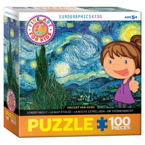 174 – 100pce Fine Art For Kid Puzzles 6100-1204 Starry Nights Van Gogh