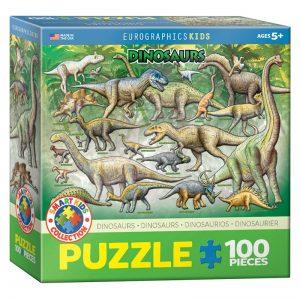 175b 100pce Puzzle 6100-0098 Dinosaurs