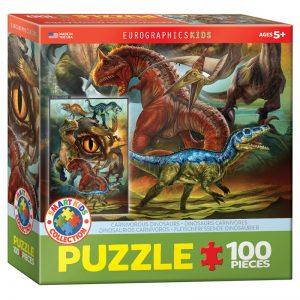 175b 100pce Puzzle 6100-0359 Carniverous Dinosaurs