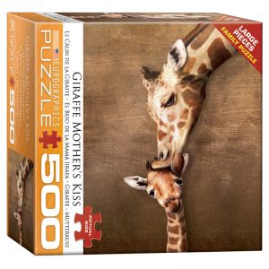 178 – 500pce Oversized Family Puzzles 8500-0301 Giraffe Mother's Kiss