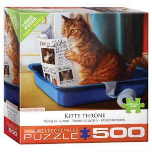 178 – 500pce Oversized Family Puzzles 8500-5452 Kitty Throne