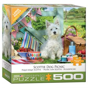 178 – 500pce Oversized Family Puzzles 8500-5461 Scottie Dog Picnic