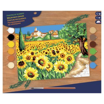 308 – Senior Paint By Number Sunflowers