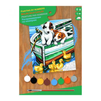 309a – Junior Paint By Numbers Puppies And Ducks