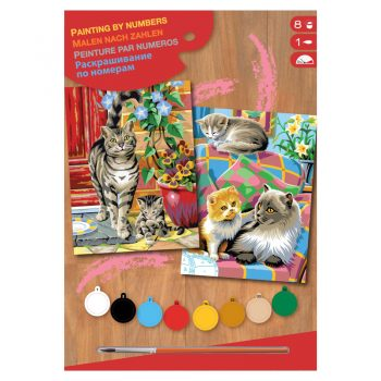 309b – Junior Pairs Paint By Numbers Cats