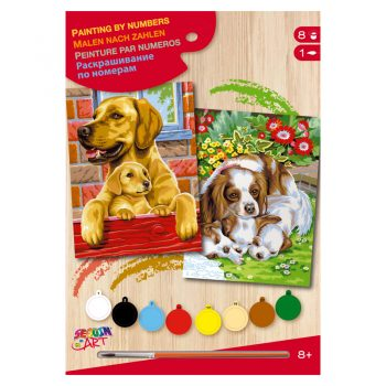 309b – Junior Pairs Paint By Numbers Dogs