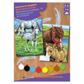 309b – Junior Pairs Paint By Numbers Horses